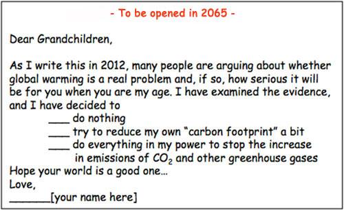 A Letter to Your Grandchildren Jeffrey Bennett